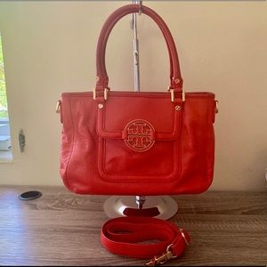Tory Burch Red Amanda Satchel Crossbody